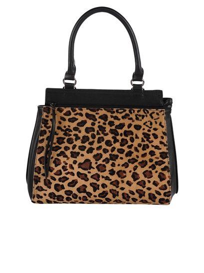 Inzi Animal Print Tote-Leopard