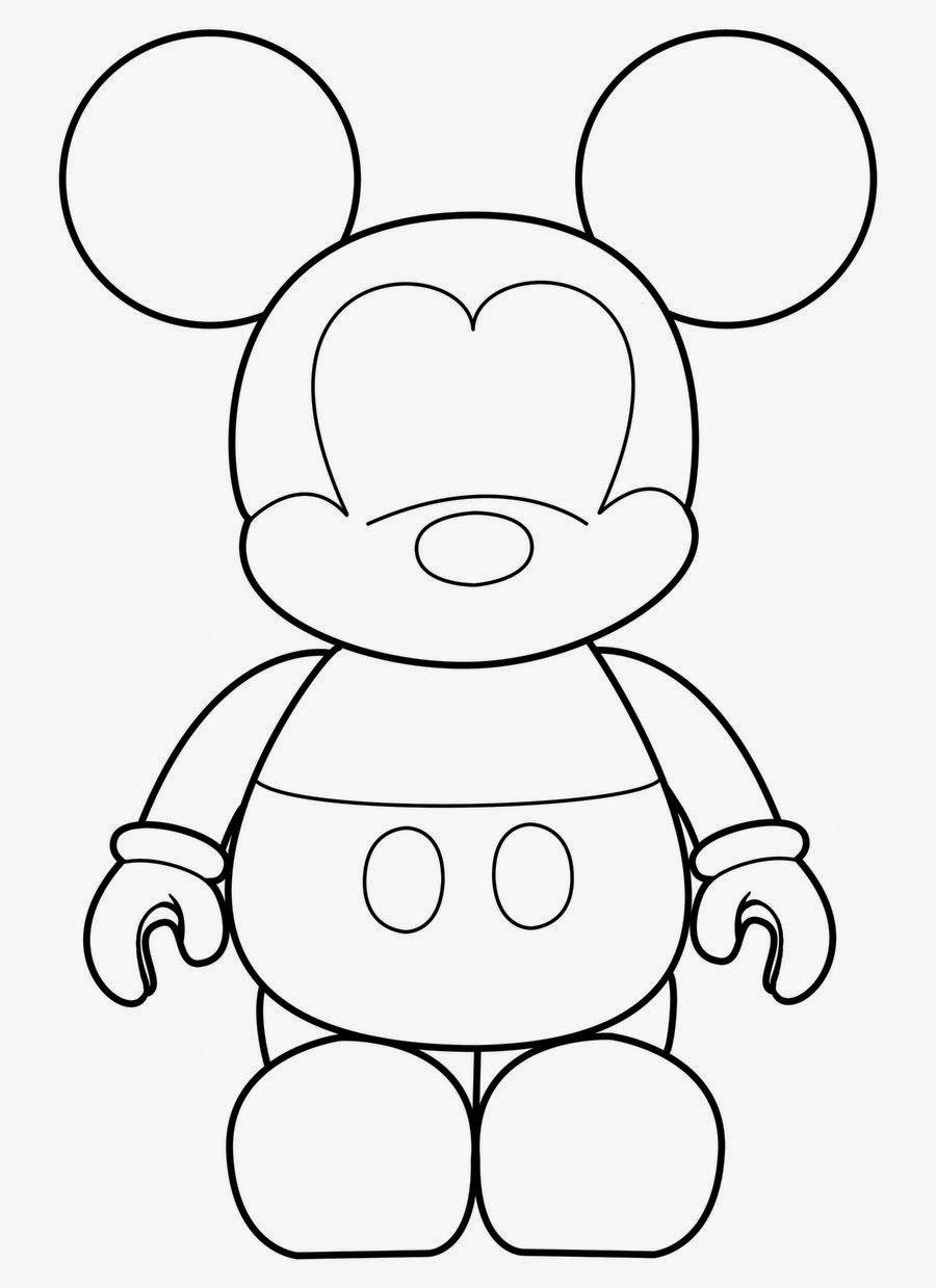 Molde de Mickey. | para pintar e imprimir | Mickey mouse, Templates ...