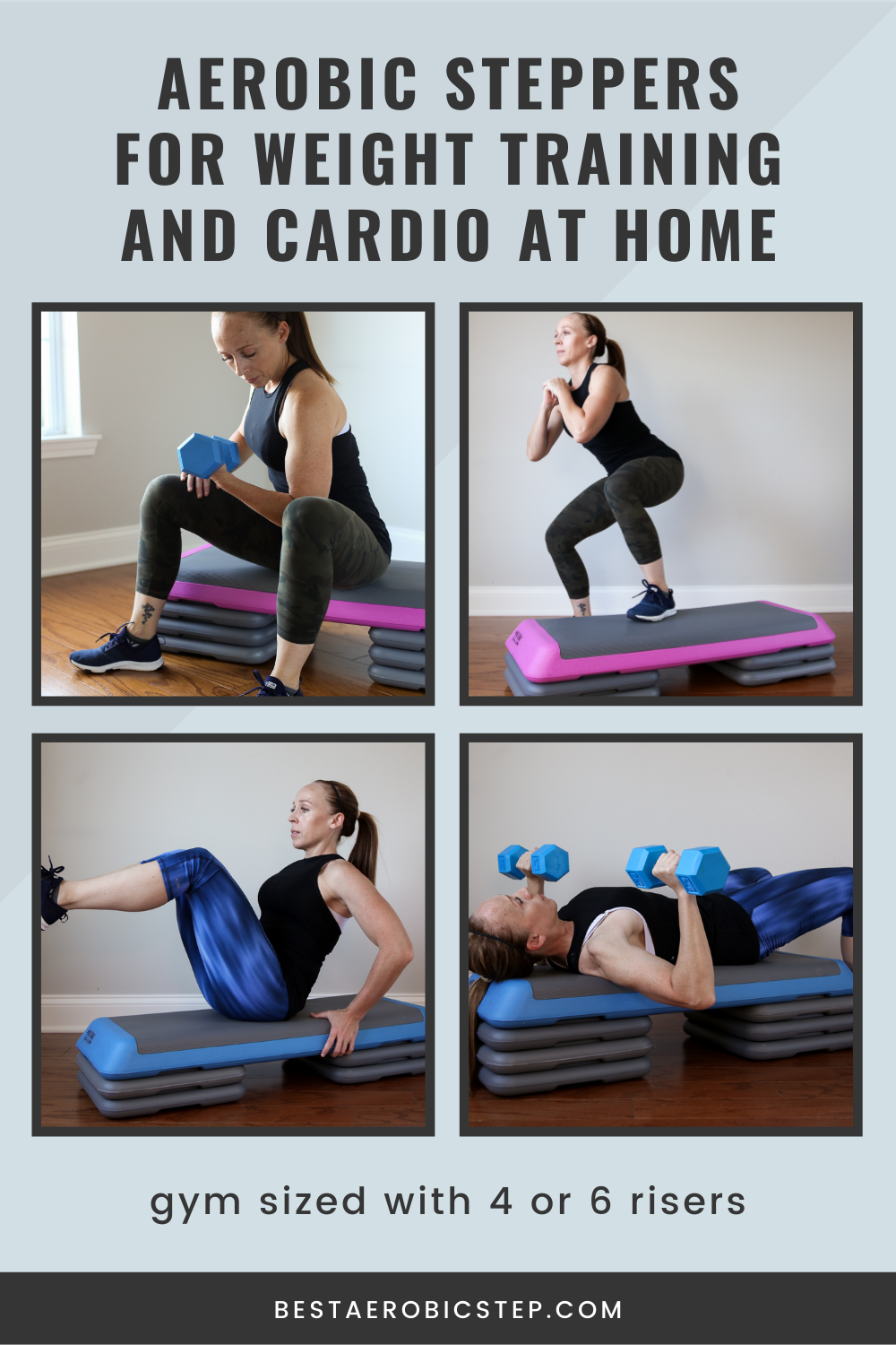 Aerobic Steppers for Weight Training and At-Home Cardio Workouts for Women