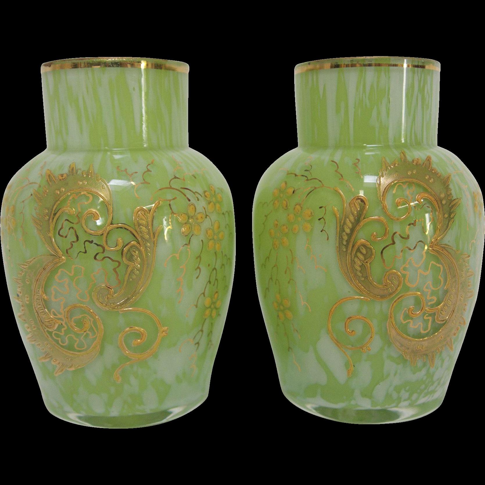 19th century harrach springtime art glass vases from rare 19th century harrach springtime art glass vases from reviewsmspy