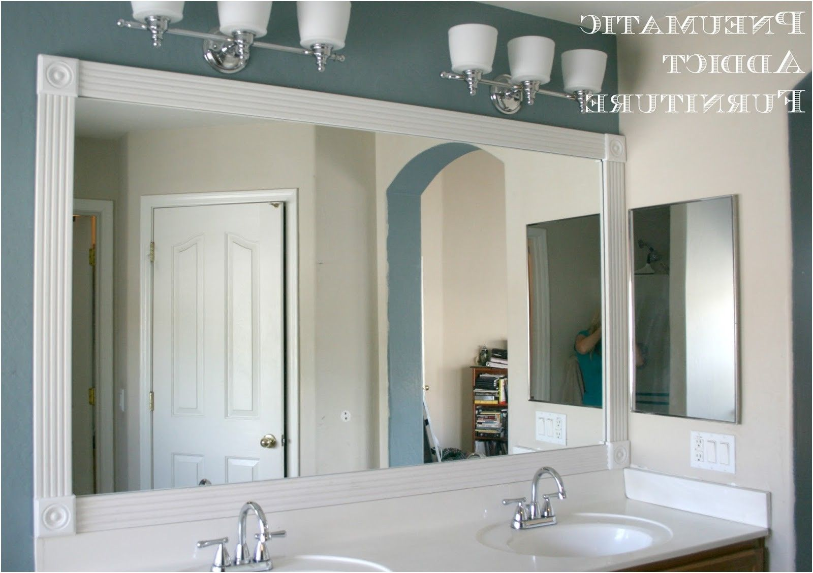 Pneumatic Addict Tip For Adding Trim To A Wall Mirror And 100 From Bathroom Moulding