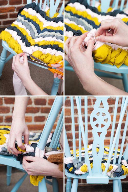 DIY Friendship Bracelet Chair Cushion For Design*sponge