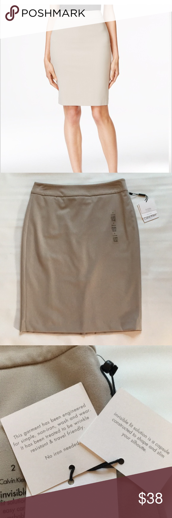 "8927740036 Calvin Klein ""invisible fit solution"" pencil skirt New with tags on! Calvin  Klein Skirts Pencil"
