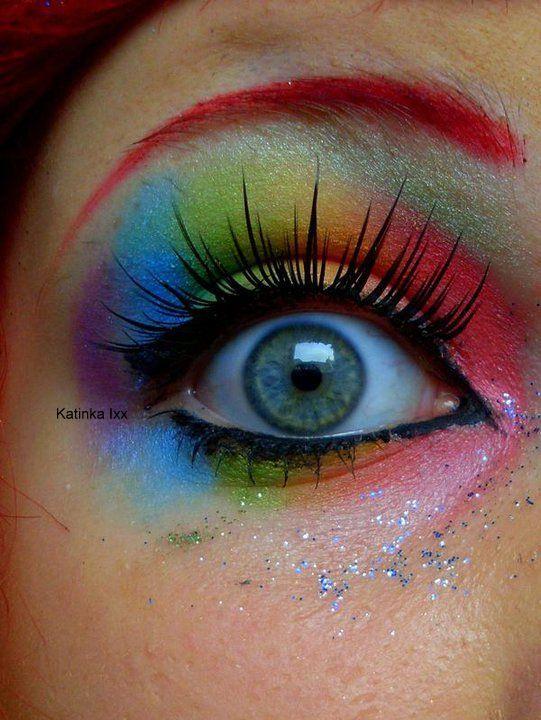 Photo of Regenbogen Make-up. Dies ist am ehesten das, was ich ursprünglich dachte und würde p …