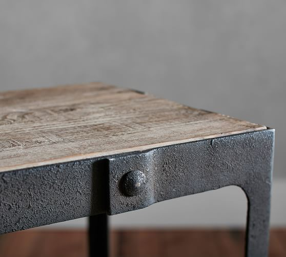 Clint Reclaimed Wood Side Table Pottery Barn