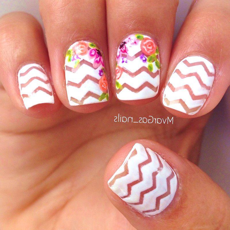 40 Lovely Floral Nail Art Ideas