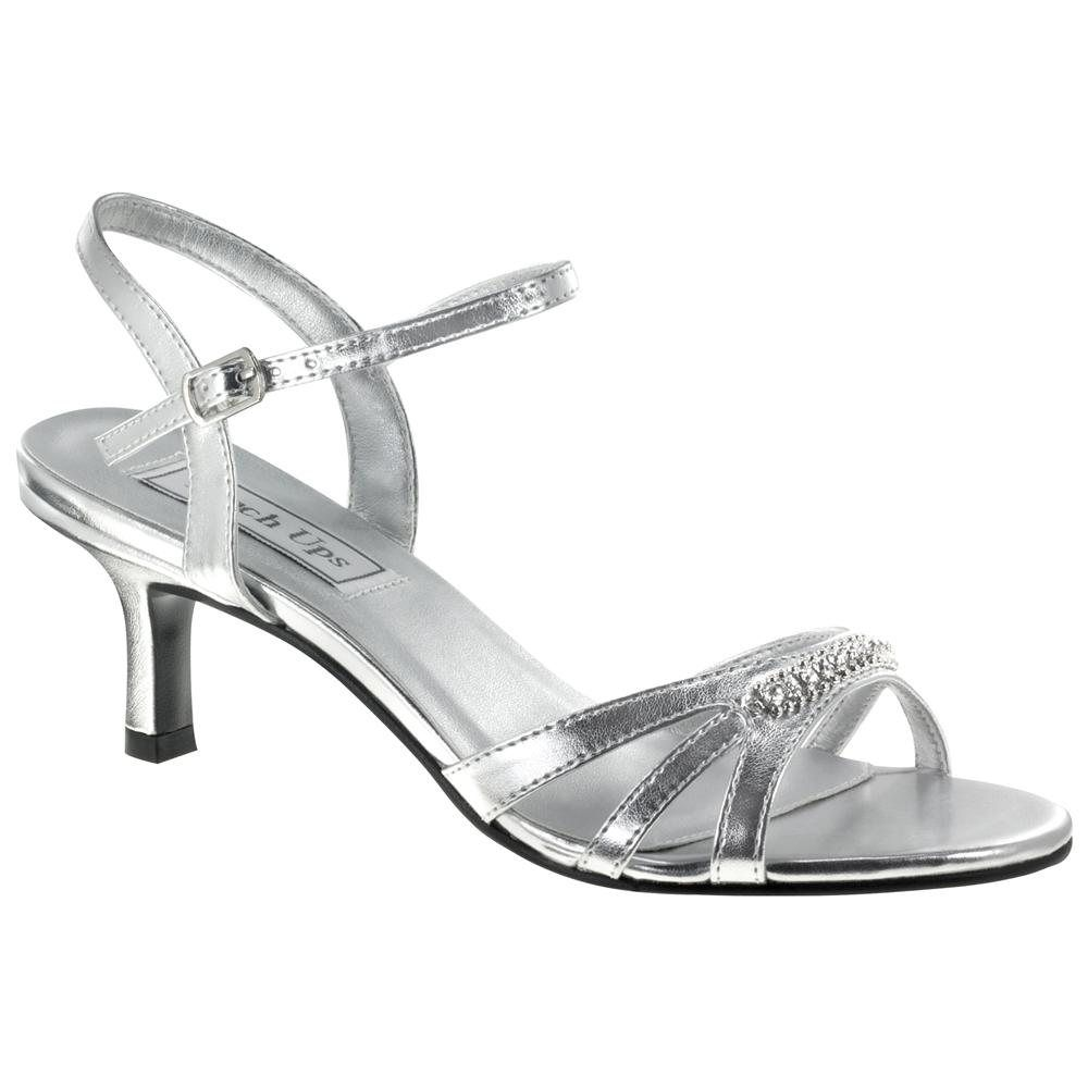 Low Heeled Silver Shoes For Wedding