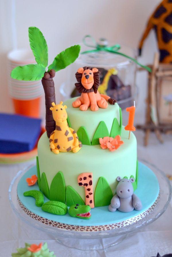 3fe185263f2c8 Le 1er anniversaire de Gabriel sur le thème des animaux de la jungle ...