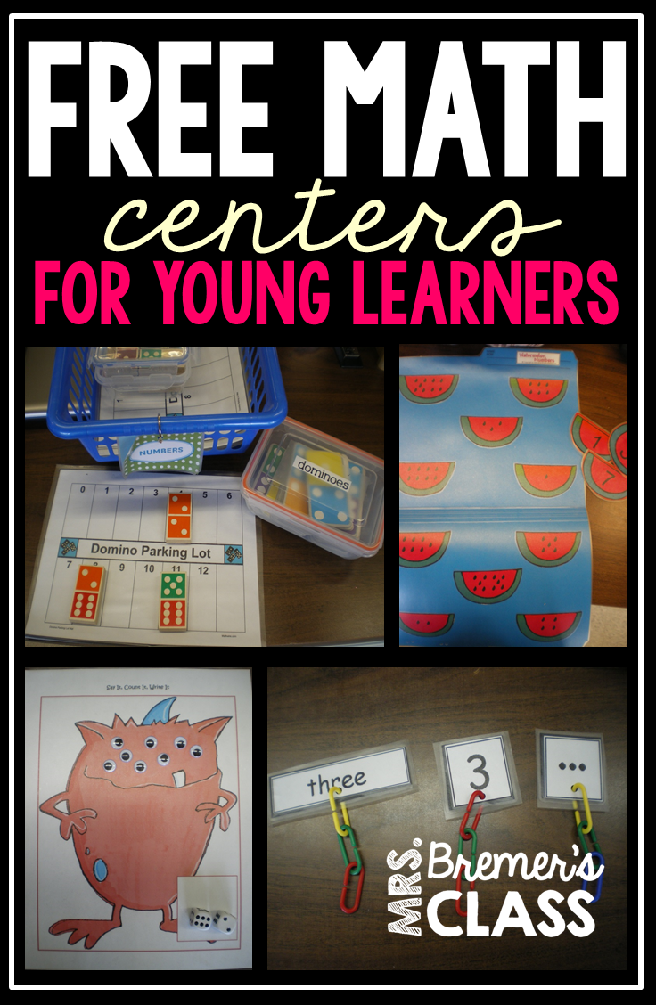 FREE Math centers for young learners- perfect hands-on learning for ...