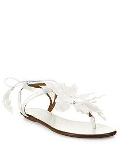 3f1fe830501c0 Aquazzura - Floral Leather Sandals