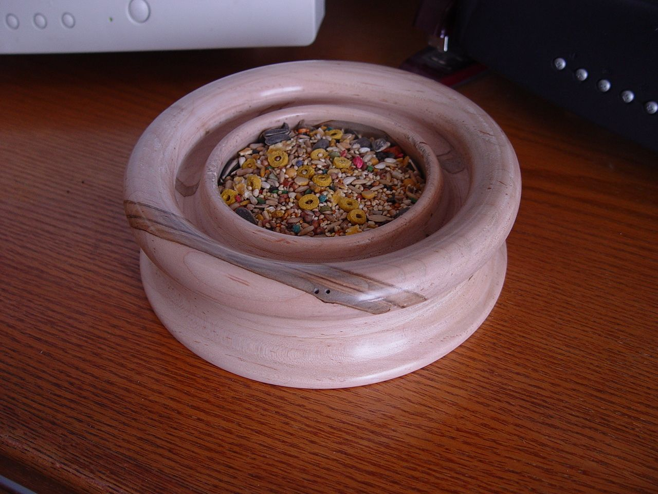 Ambrosia Maple Bowl I Made For My Bird To Sit On And Eat Seed Bowl Ambrosia Dog Bowls