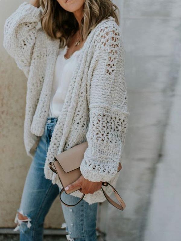 Chloebuy Oversize Chunky Knit Cardigan