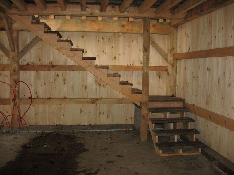 Best Simple Barn Stairs Treads Salvaged From Old Barn 640 x 480