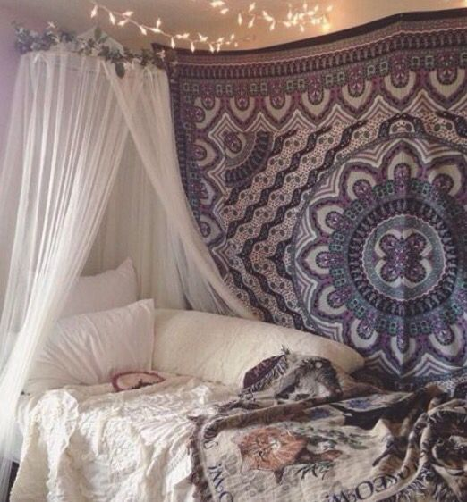 Diy Bedroom Decor, Bedroom Sets, Dorm Ideas, Bedroom Ideas, Teenage Girl  Bedrooms, Bohemian Bedrooms, Hipster Rooms, Bohemian Decorating, Child Room