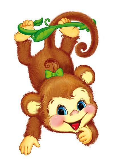 Картинки по запросу обезьянка нарисованные