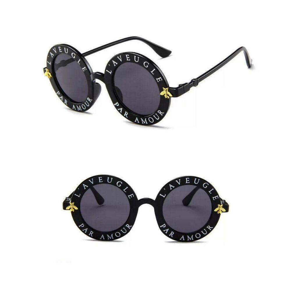 77ec04eed84 Novelty L Aveugle Par Amour Black Round Sunglasses NEW  Unbranded  Round