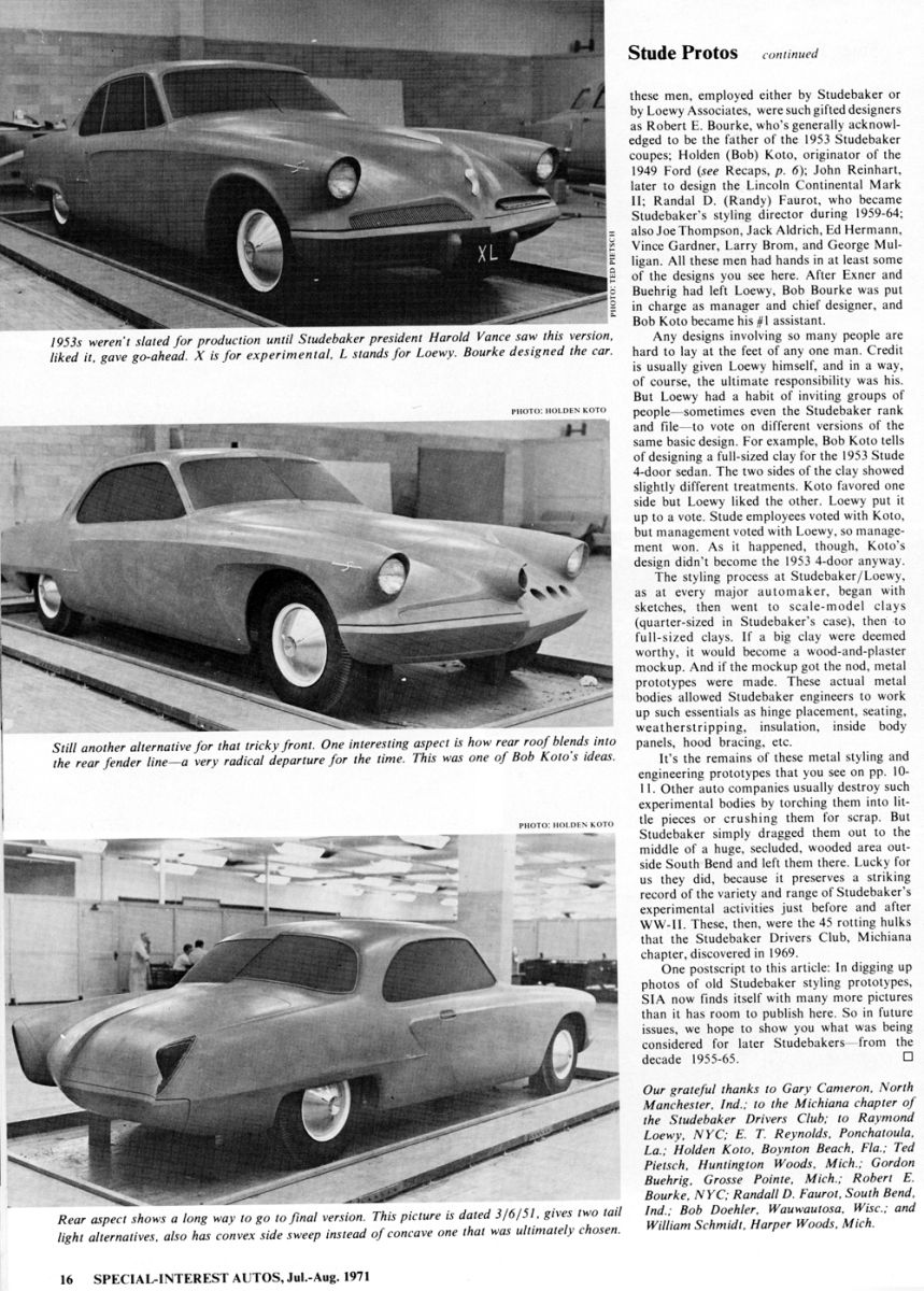 Studebaker Prototypes Studebaker Classic Cars Concept Cars
