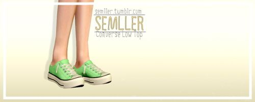 Converse Low Tops by Semller - Sims 3 Downloads CC Caboodle