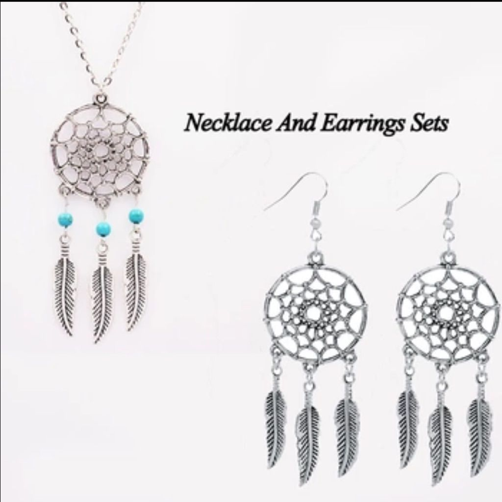 Bundle of dreamcatcher necklace and earrings products