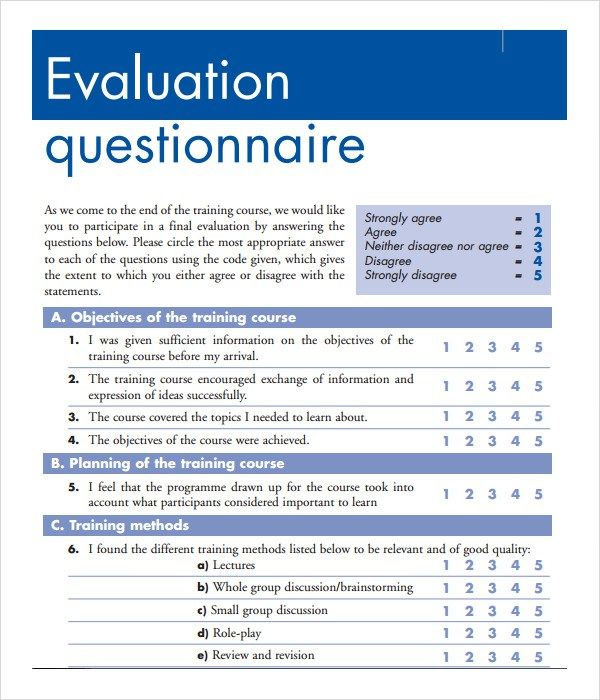 Sample Training Feedback Form Doc Project Plan Search Evaluation