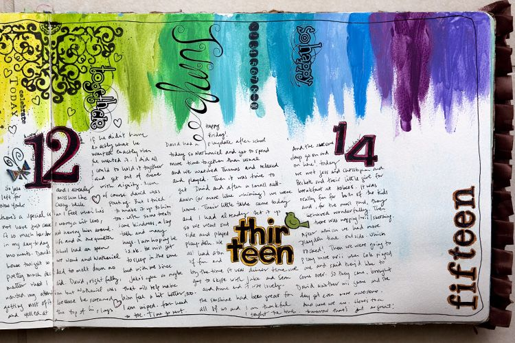 love her art journaling, but really love this in particular