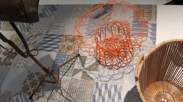 inspiration - Mutina tile and steel #orange color ****