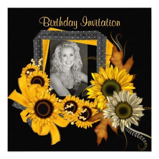 invitation add photo sunflower yellow flower frame sunflower