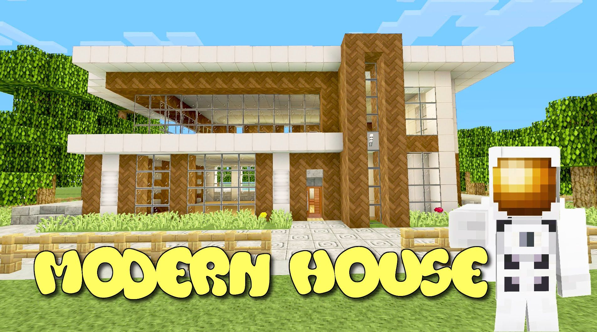 Minecraft Xbox One Modern House Tutorial 13 Part 23