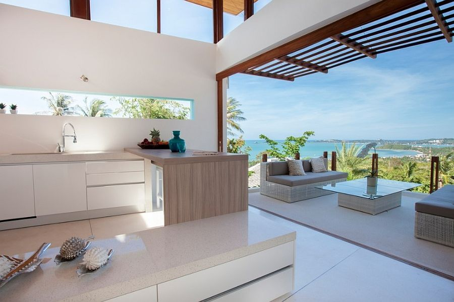 Open Plan Living Designs open plan living and kitchen with modern tropical style | open