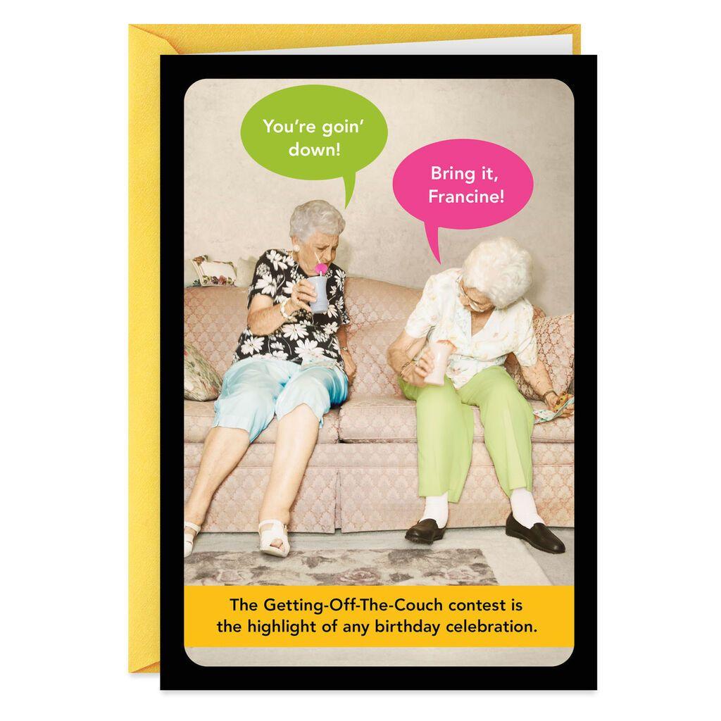 Old Age Antics Funny Birthday Card Birthday Humor Funny Birthday Cards Birthday Cards
