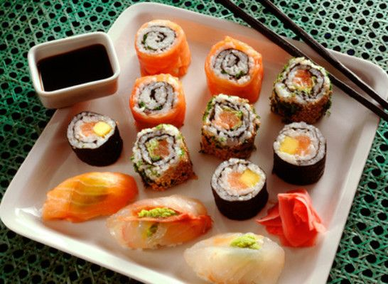 Sushi - not as complicated to make as you may try.