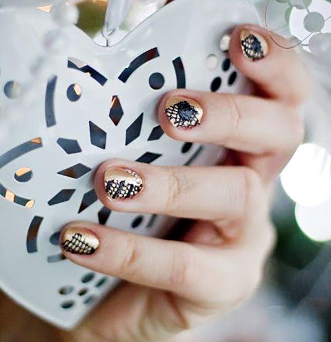 A-List Nail Art: 20 Oscar-Worthy Gold Manicures | Gold manicure ...