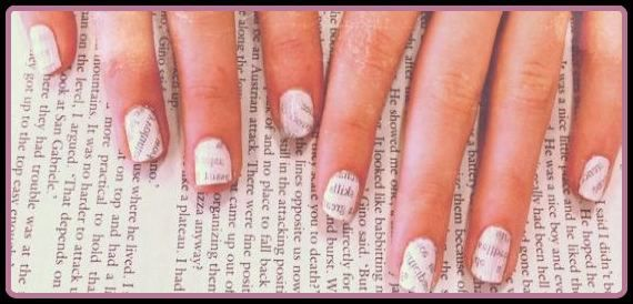 How To Paint Your Nails With Newspaper Without Alcohol Manicure