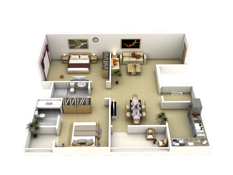 Tech n gen 3d modules house apartment models and plans for Apartment design process