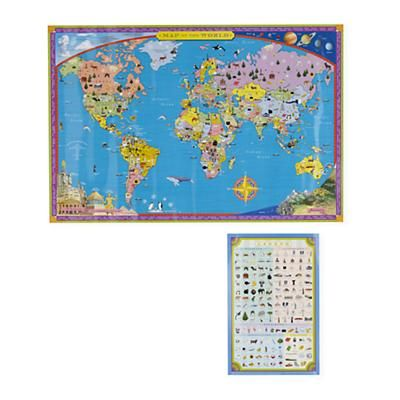 Kids wall art world wall map in map wall art boys and maps kids baby furniture bedding and toys gumiabroncs Image collections