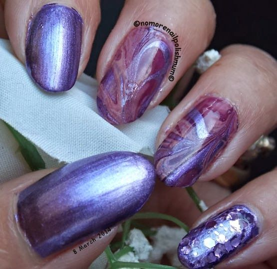 NoMoreNailPolishMum!: GOT Polish Challenge - Week 10 - Purple - Water Marble