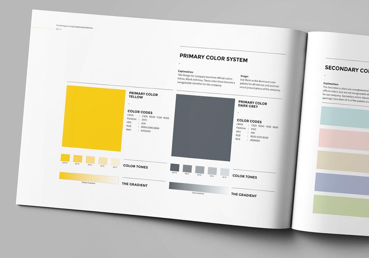 Https Www Behance Net Gallery 27151021 Brand Manual Brand Manual Corporate Design Manual Brand Book