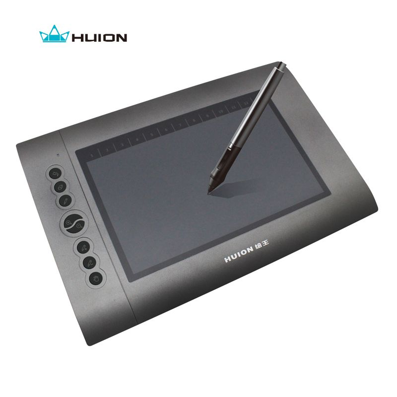 New Huion H610 10 X 6 4000 Lpi 220 Rps 2048 Levels Genuine Drawing Tablets Art Graphics Tablet Professional Signature Tablet Drawing Tablet Tablet Pen Tablet