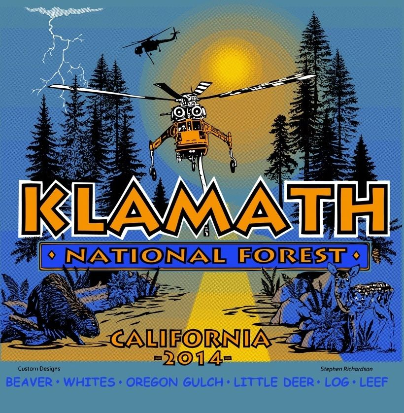 Incident Tee Shirt Wildland firefighter, Klamath
