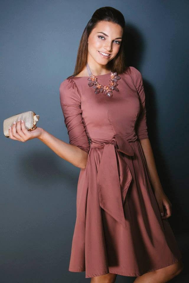 Lace Dress Old Rose Las H M