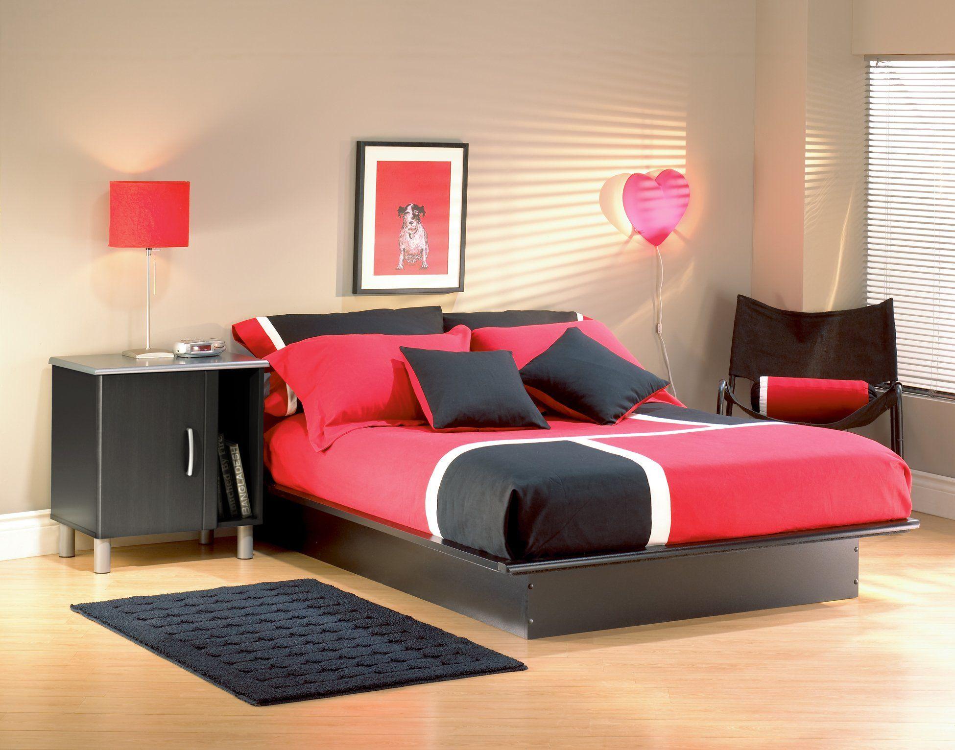 Black Full Platform Bed (54 Inch) Step One Modern