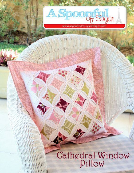 Cathedral Window Pillow PDF Sewing Pattern | Patchwork kissen ...