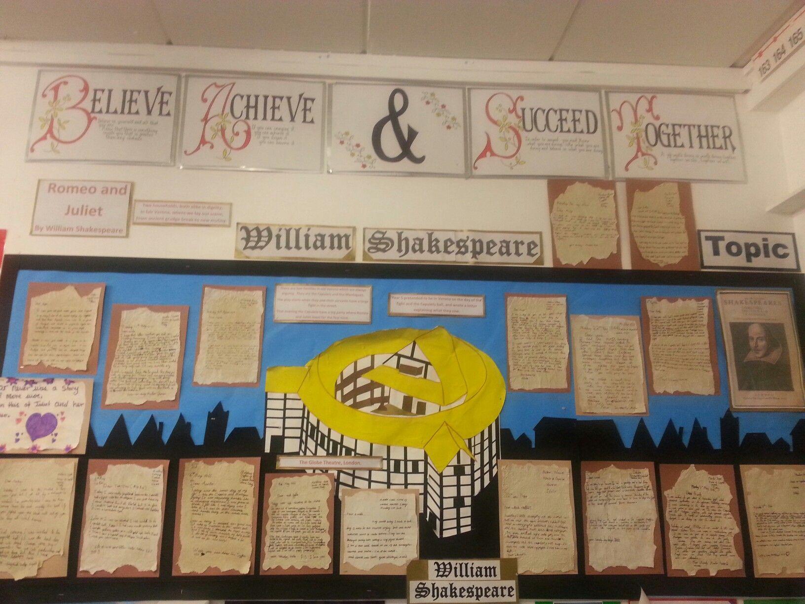 Shakespeare Bulletin Display Board Classroom Displays Display