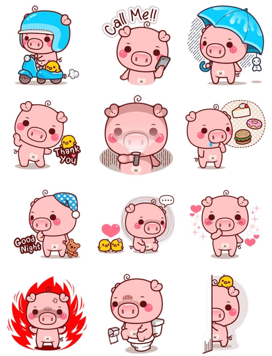Cerdos Dibujos De Chanchitos Cerditos Tarjetas De Gato