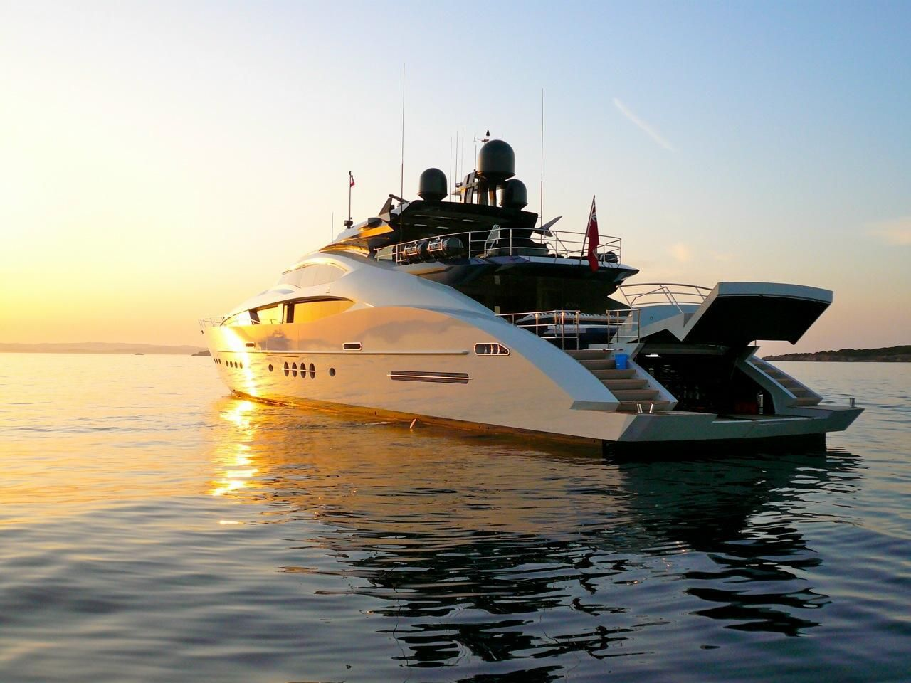 Palmer Johnson Yacht photographed in the stunning evening light!