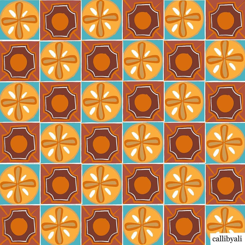Checkered in Orange bardotbrush makingarteveryday
