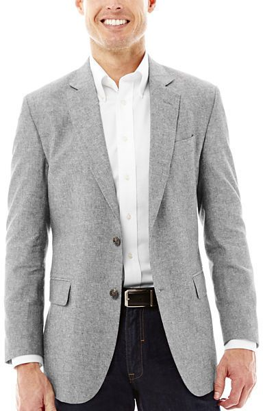 Stafford Signature Linen Cotton Sport Coat | Man shop and Sport coat