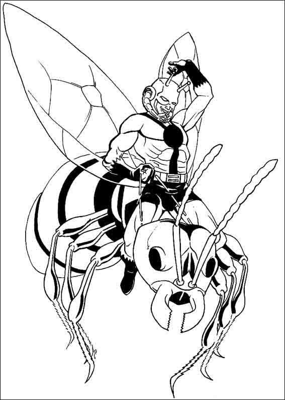 Dibujos para Colorear Ant-Man 6 | Hombre Hormiga | Pinterest ...