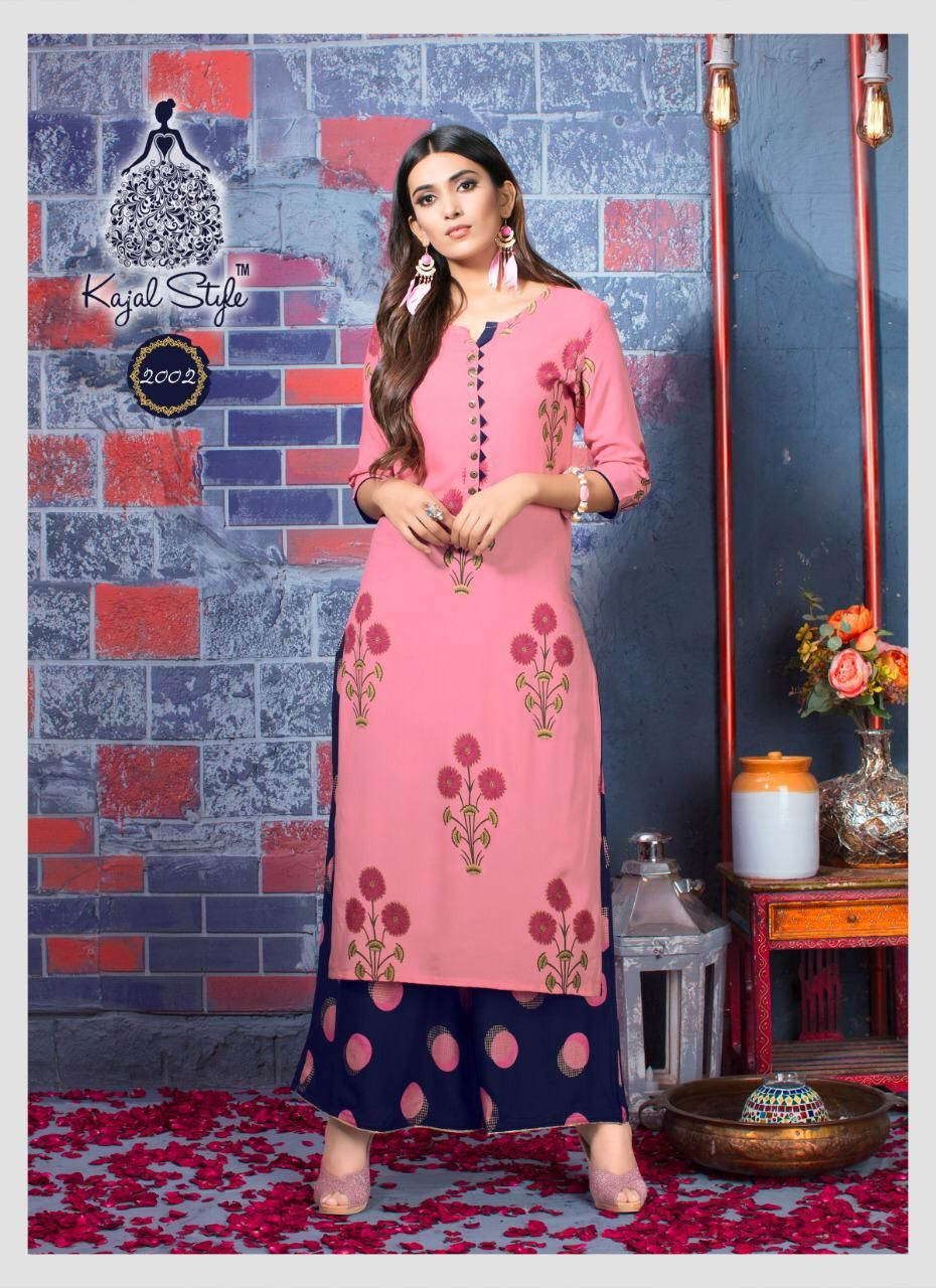 75b89e971396 Kajal Style Fashion Biba Vol 2 Kurti with Palazzo Wholesale Catalog ...