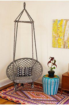 hanging chair urban outfitters oversized patio chairs boho living room swing home is where the